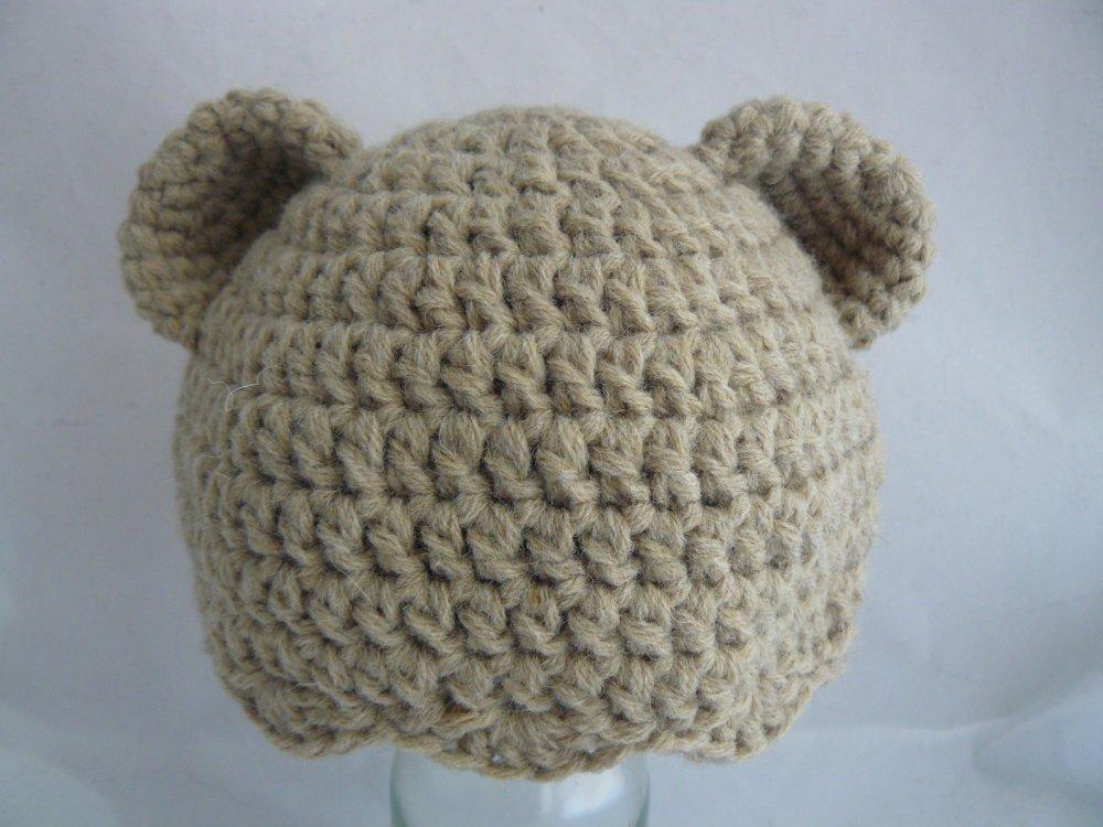 Berretta, cappello, cuffia di lana per neonati piccolo orso.