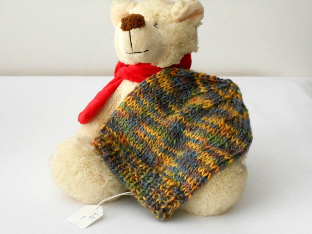 Cappellino baby unisex, in filato bambù, lavorato a maglia