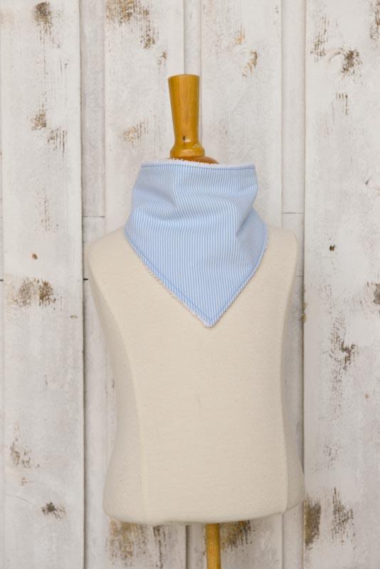 Bavaglino bandana righe azzurre