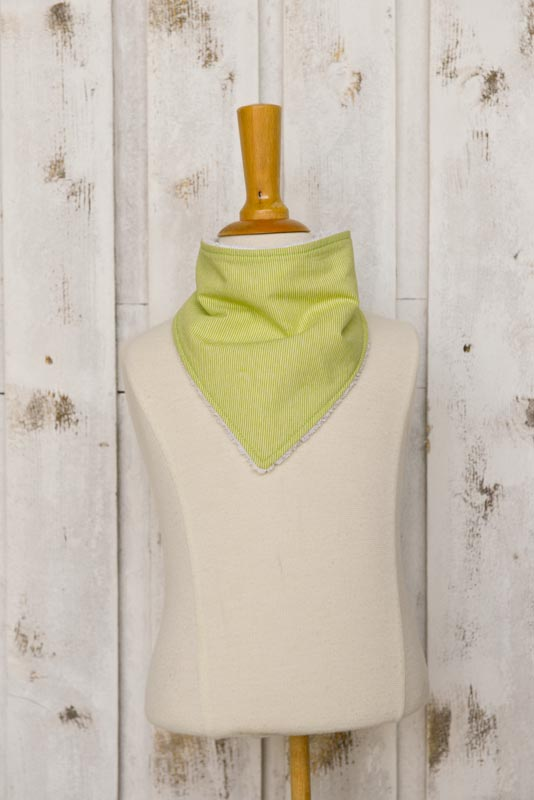 Bavaglino bandana righe verdi