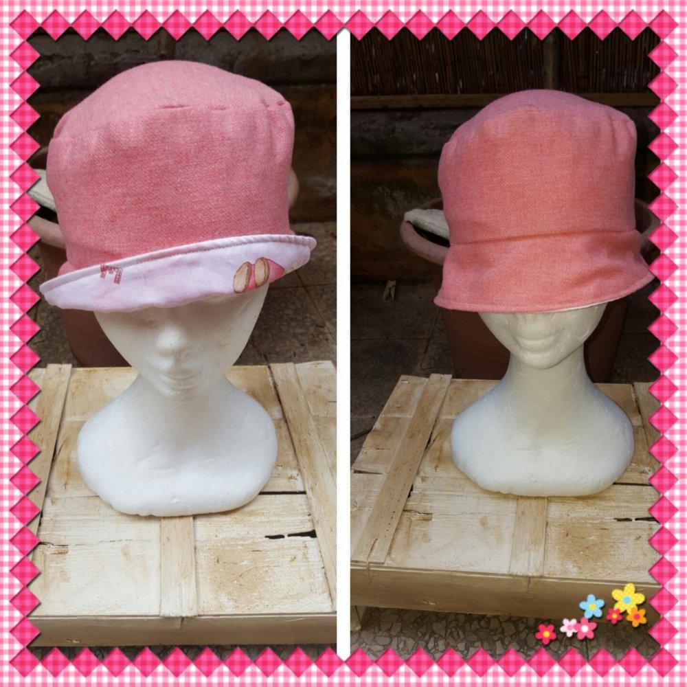 cappello  reversibile lana /cotone