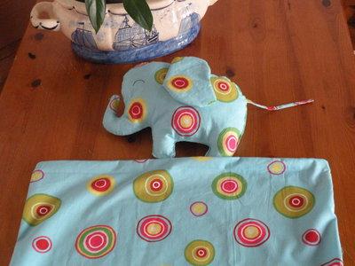 cuscino elefante + copri piumino