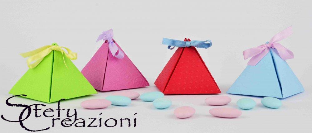 Scatoline Portaconfetti Piramide (Lotto 5 pezzi)