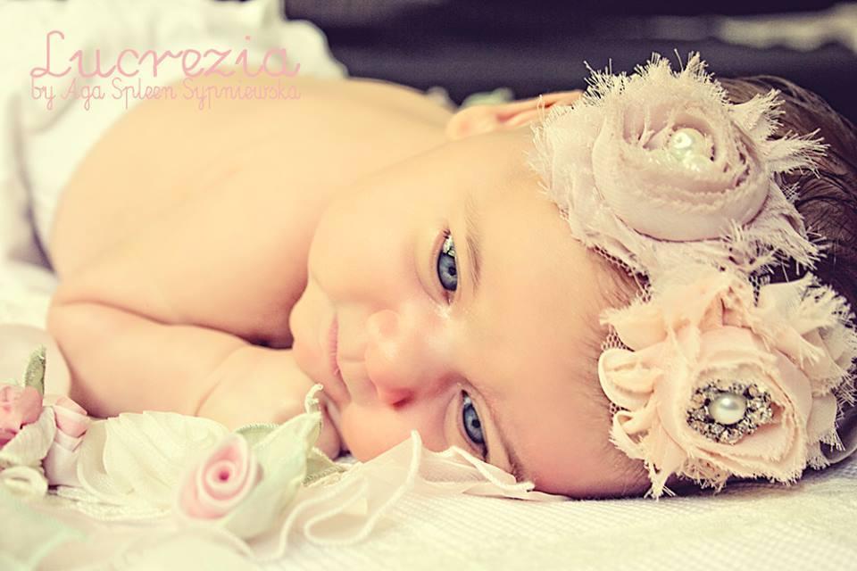 VANITOSETTA - Fascetta elastica per neonata (0-9 mesi)