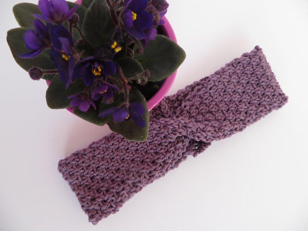 Fascia bimba cotone violetto