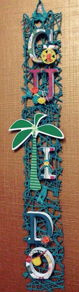 Nome con lettere di legno, decorate a mano in stile