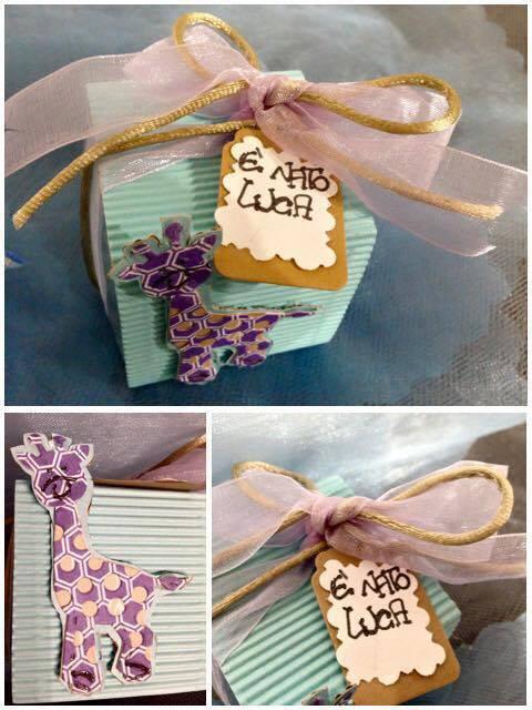 Bomboniera nascita /battesimo/ compleanno con giraffa e tag personalizzato