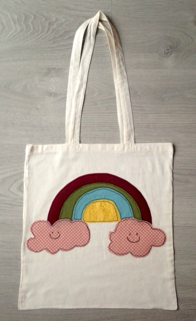 Rainbow shopper/tote bag