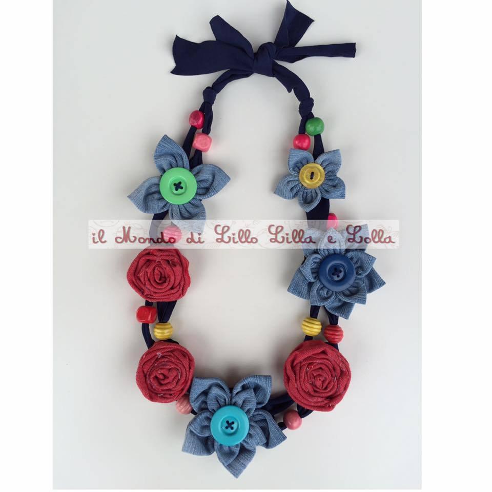 collana rose e fiori