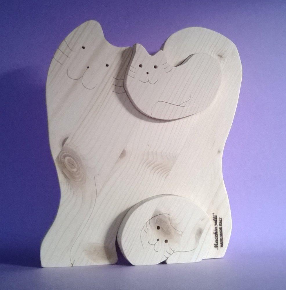 Puzzle in legno puzzle gatti (Cod. PUZ003)
