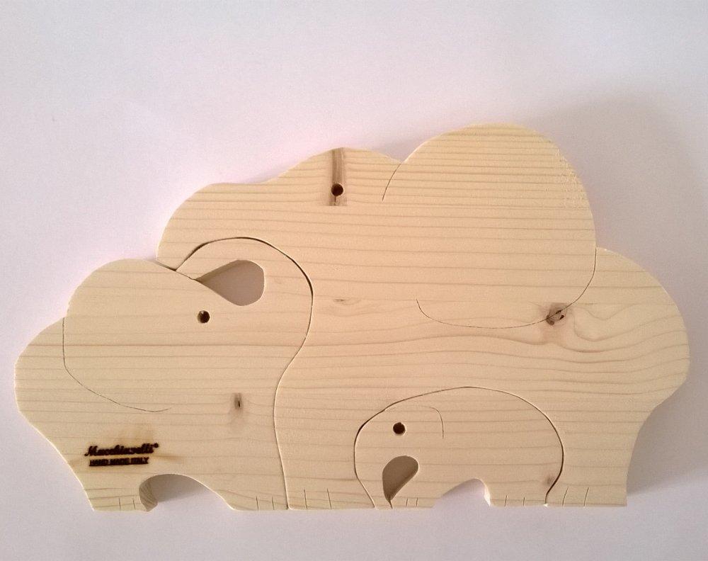 Puzzle in legno puzzle elefanti (Cod. PUZ001)