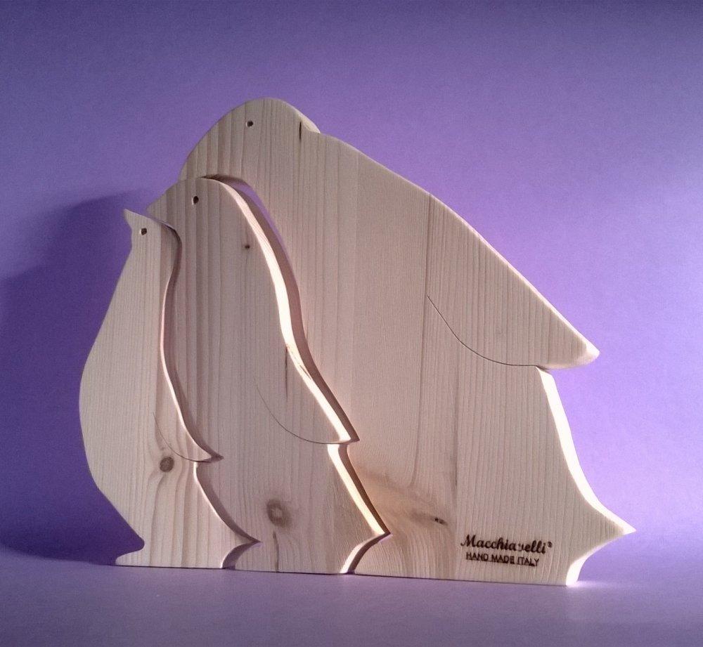 Puzzle in legno puzzle pinguini (Cod. PUZ004)