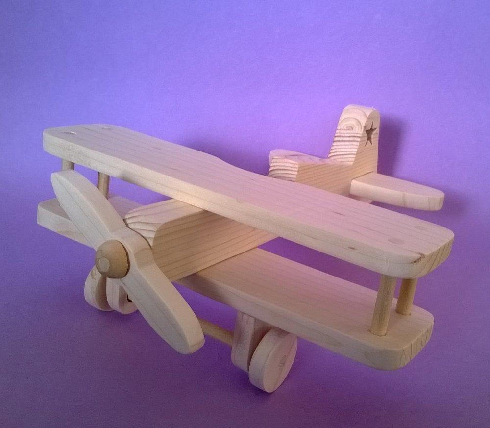 Aeroplano in legno per bambini modello