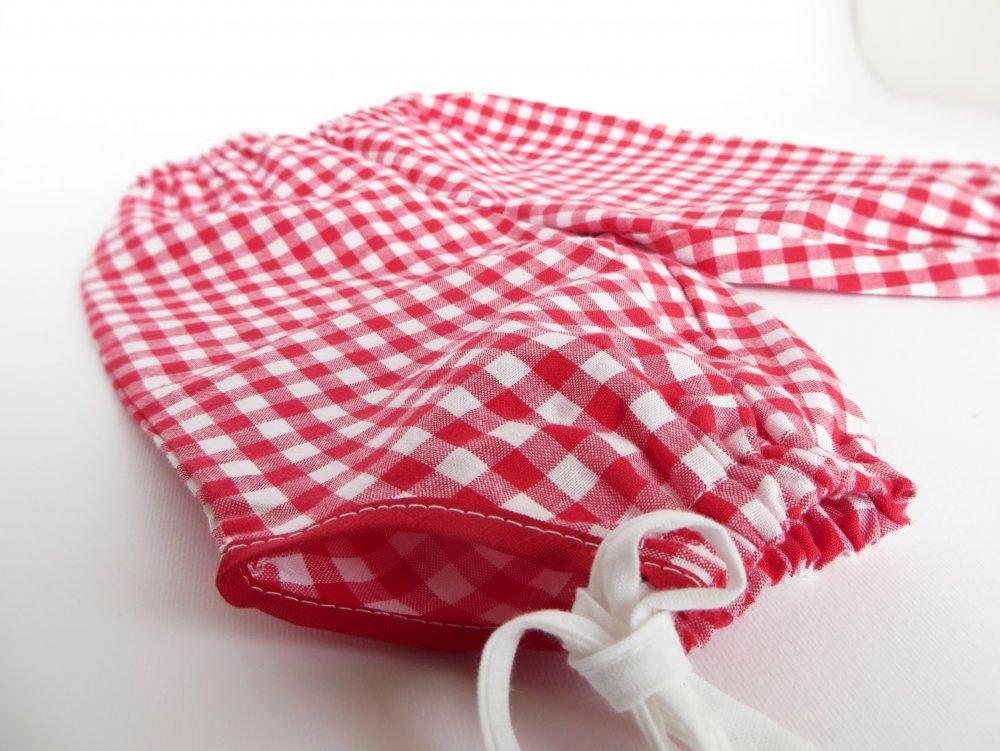 Pantaloni bebè quadretti rossi 0-3 mesi