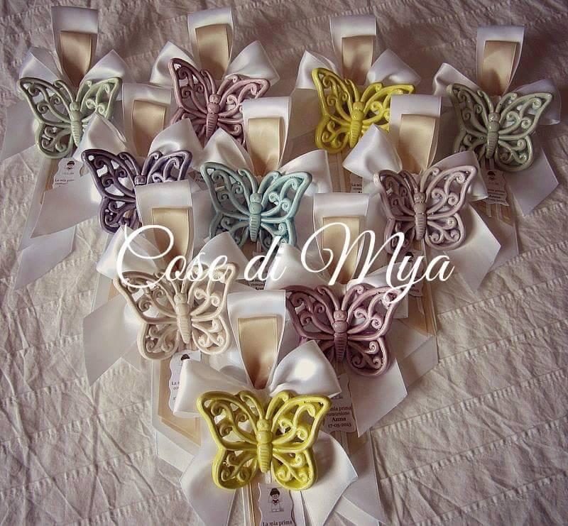 Farfalle in ceramica color pastello