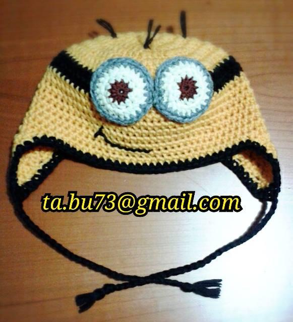Cappellino minion lana/cotone personalizzabile