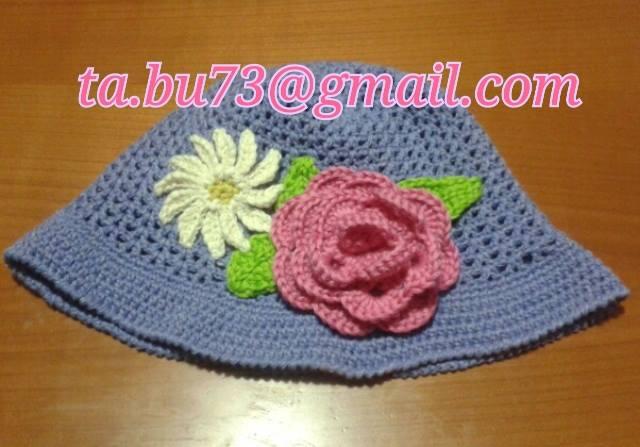 Cappellino bimba in cotone personalizzabile con fiori