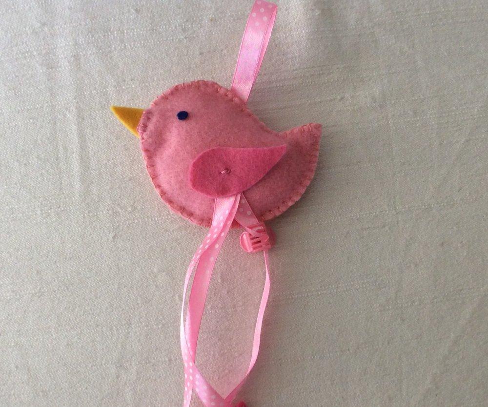 Portamollettine in feltro rosa  da appendere