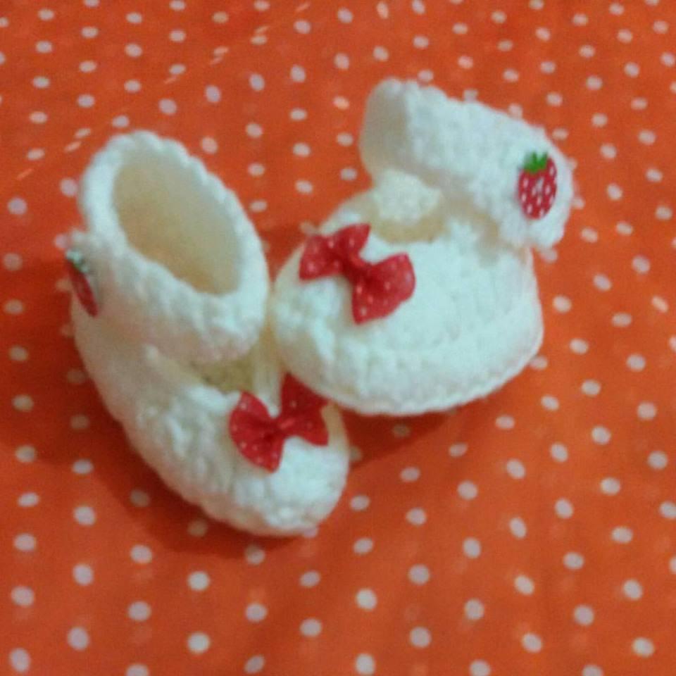 Scarpine neonato in cotone