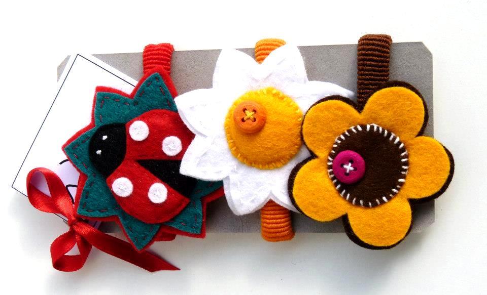 Elastico set Coccinella e fiori