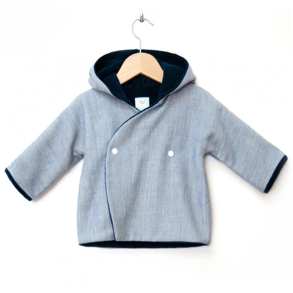 Giacca bebè neonato e bambino in pile e misto lana e lino - NAVY