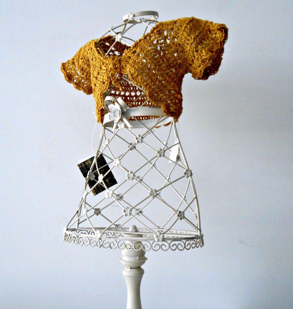 Baby bolero a uncinetto, giacchino bimba a crochet giallo oro, giacchino estivo, coprispalle