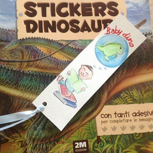 segnalibro bimbo dinosauro