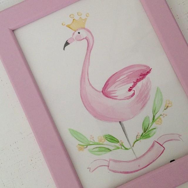 quadretto fenicottero rosa