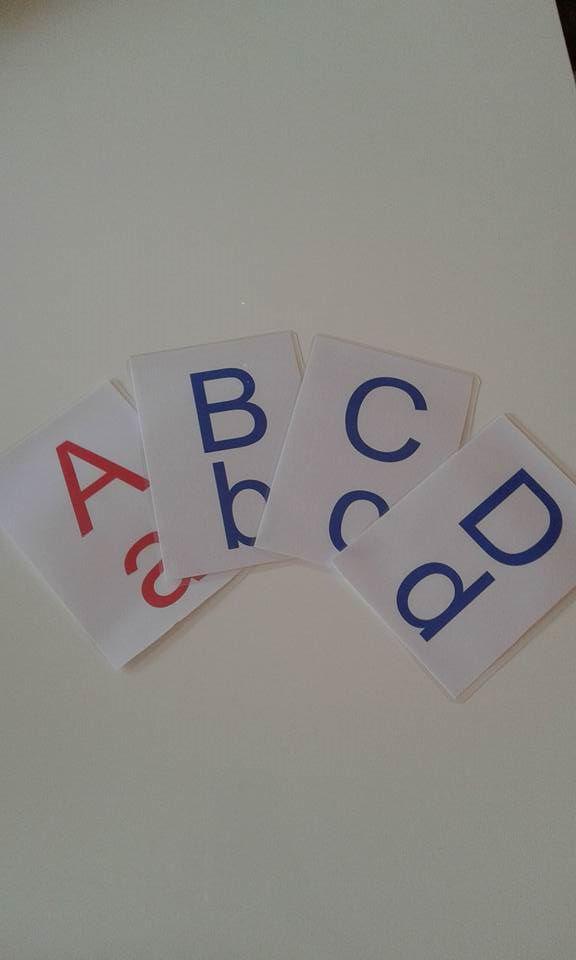 26 schede montessoriane.  lettere alfabeto