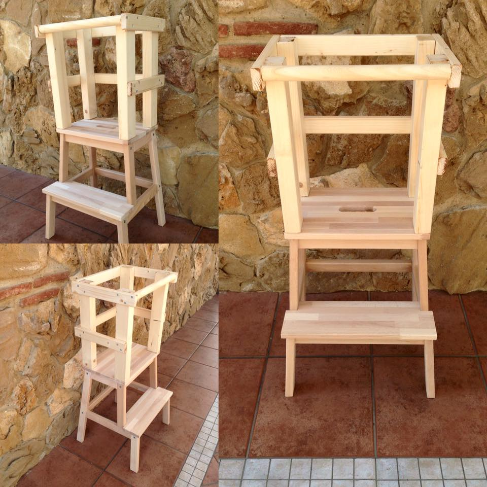 Learning Tower - Torre di apprendimento montessoriana nature