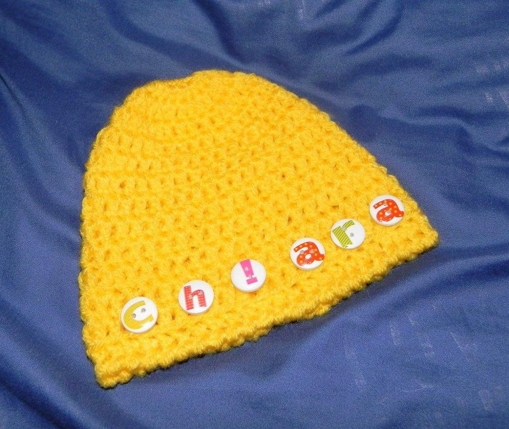 Cappellino neonato personalizzato con nome