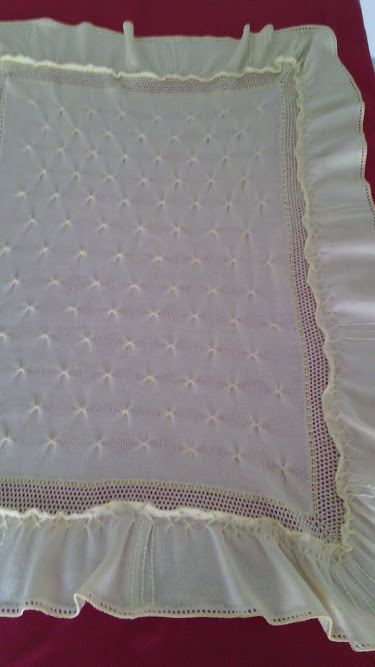 coperta per culla maglia lana cotone