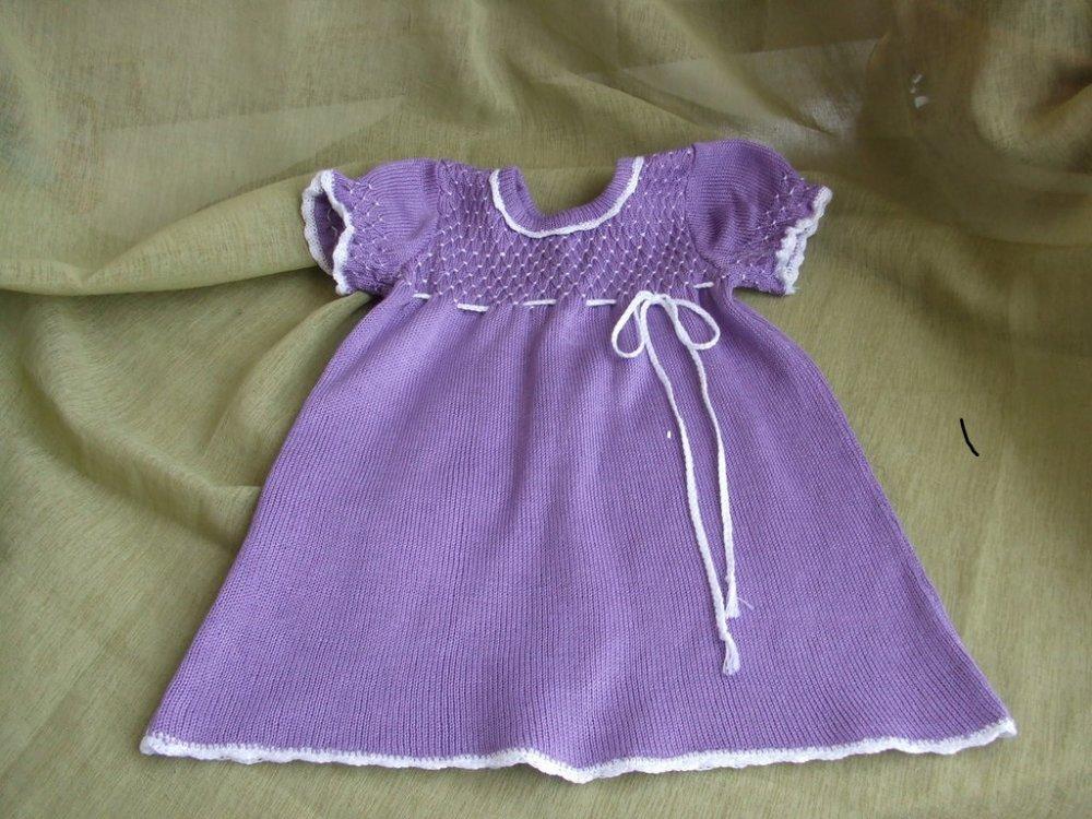 abito bimba cotone maglia lilla