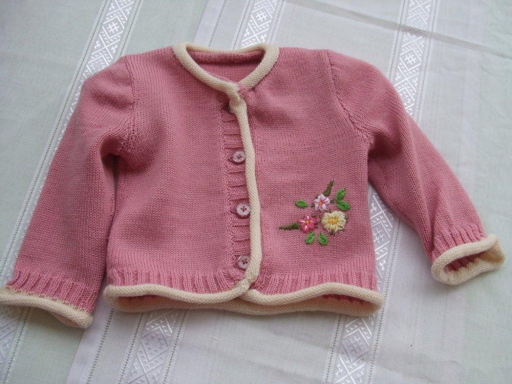 cardigan golfino bimba lana maglia