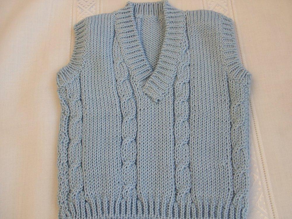 golfino gilet bimbo + calzini cotone maglia