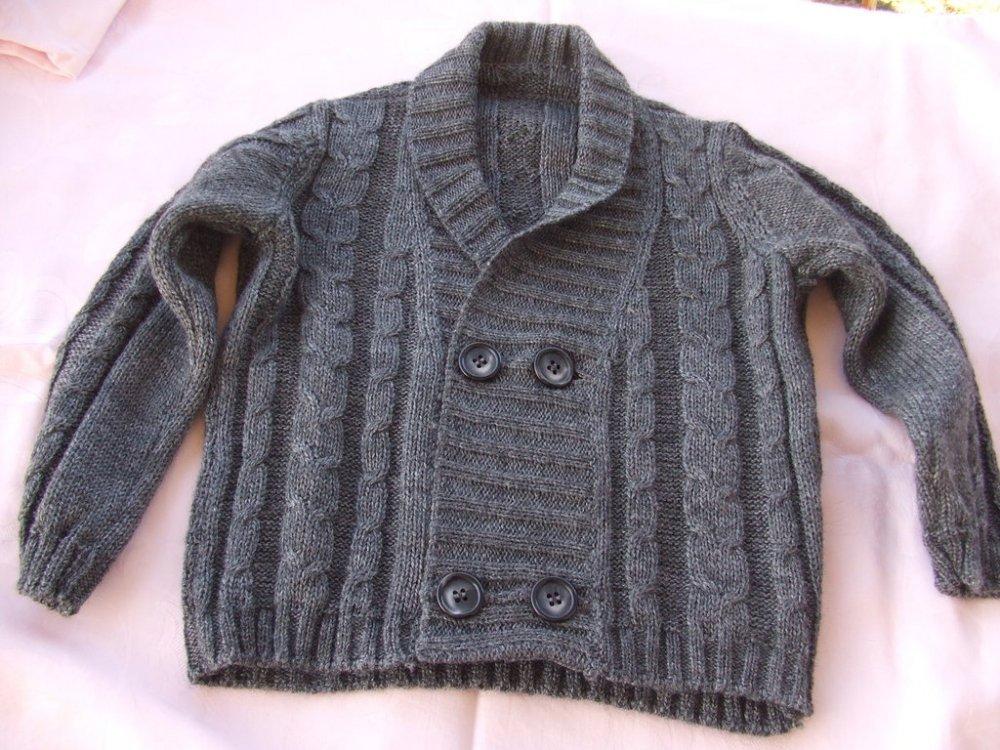 giacca doppio petto bimbo lana maglia