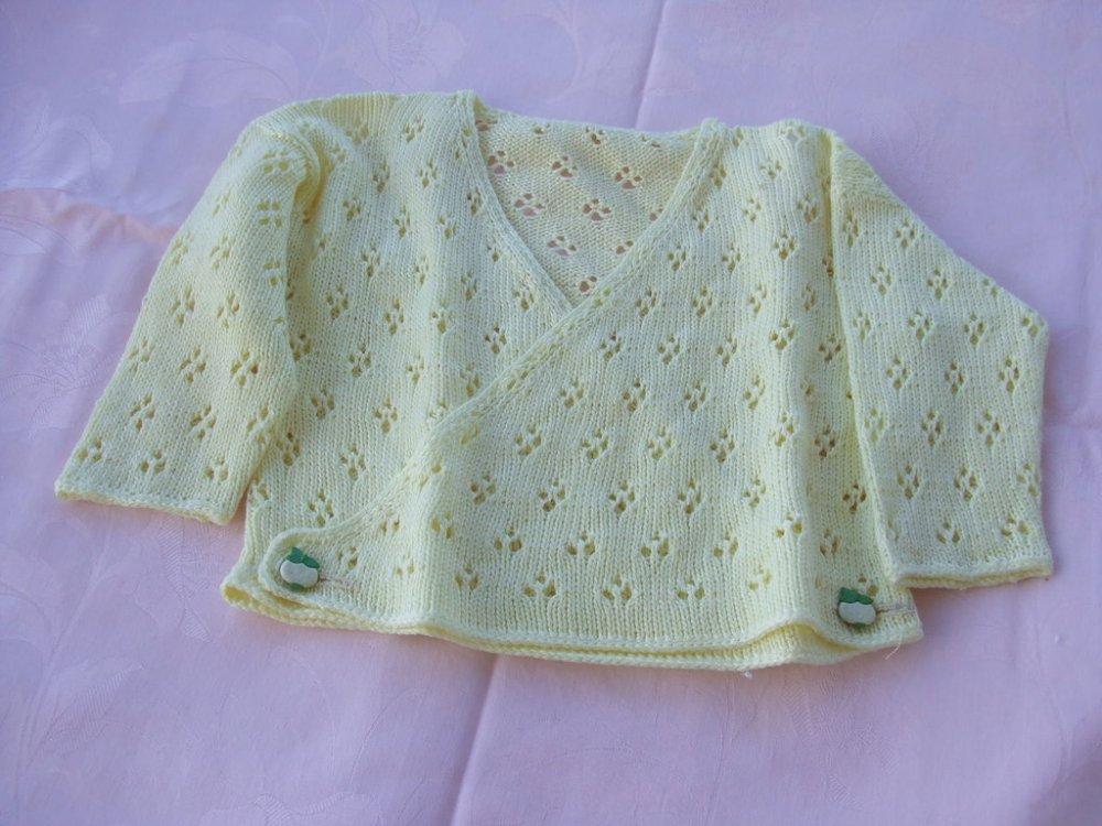 golfino copri fasce bimbi maglia cotone lana