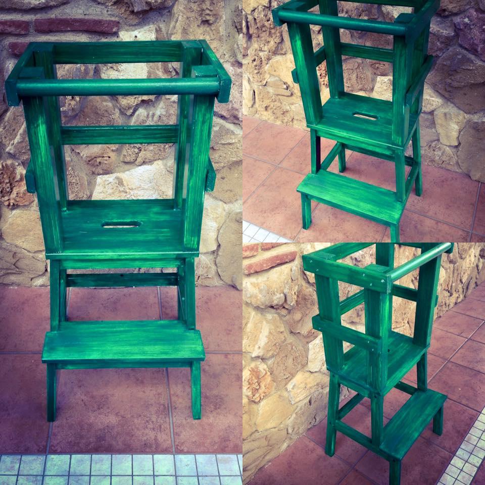 Learning Tower - Torre di apprendimento montessoriana Verde
