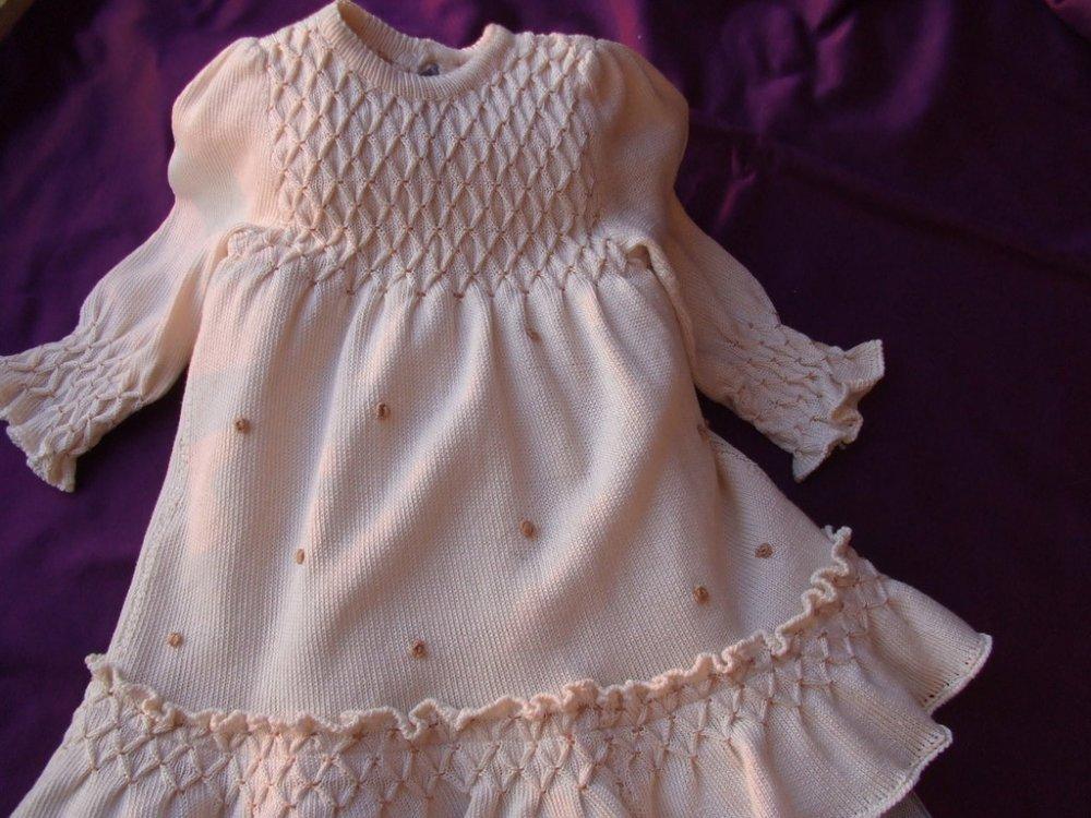 abito vestito cotone maglia panna cotone