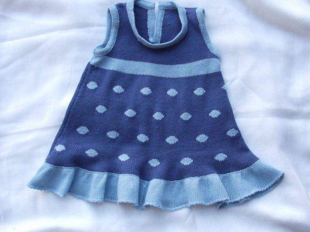vestito bimba lana o cotone maglia