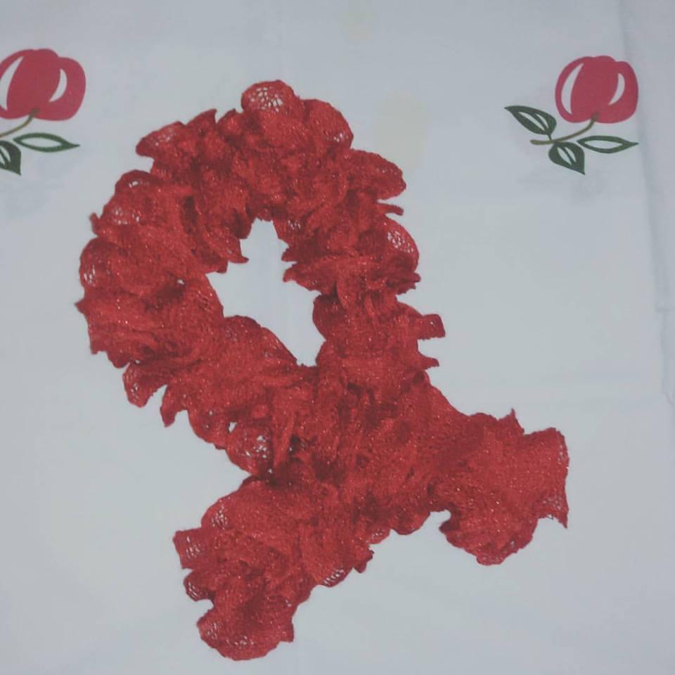 Sciarpa sciarpetta rossa bambina
