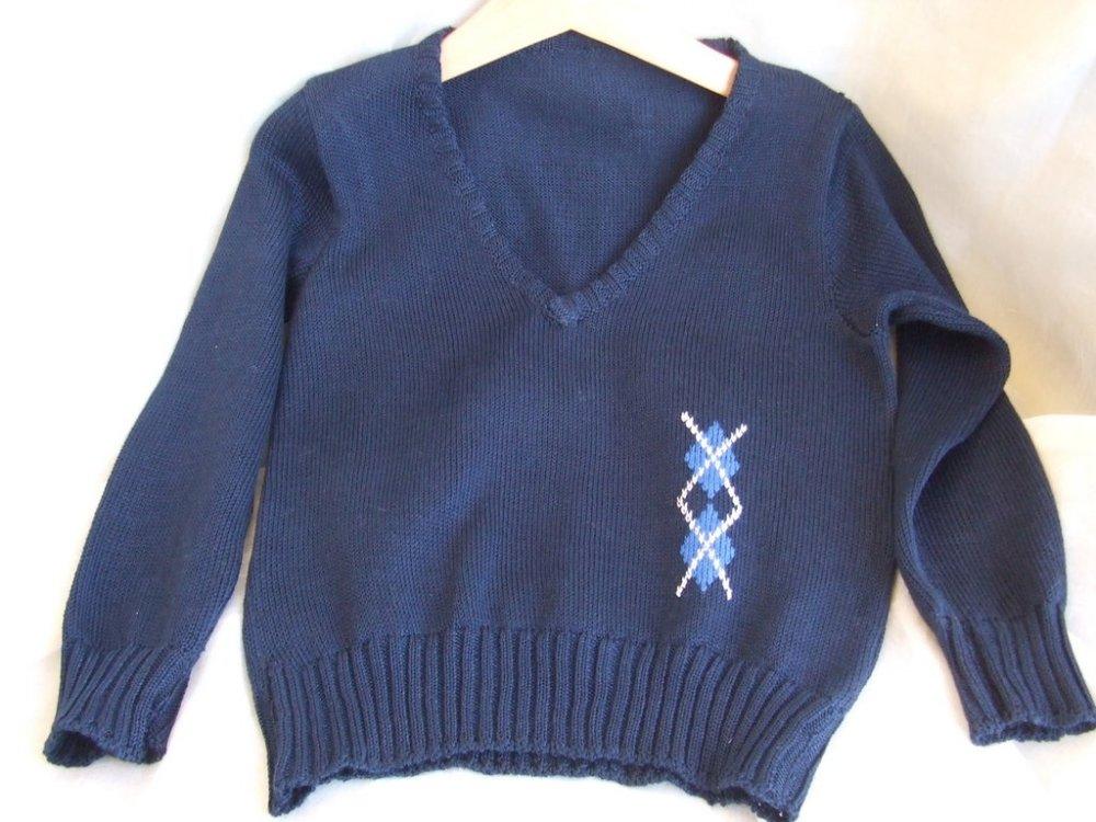 golf maglioncino scollo a v maglia cotone lana
