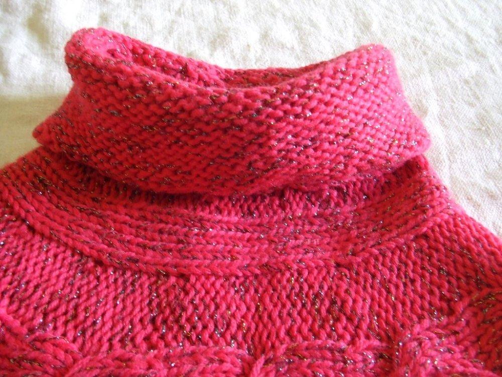 copri spalle bimba lana maglia