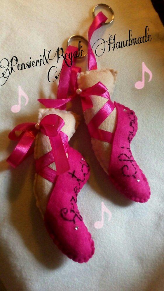 Portachiavi scarpetta da ballo