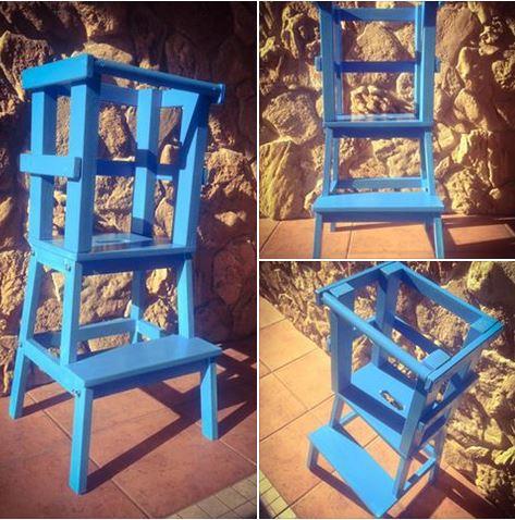 Learning Tower - Torre di apprendimento montessoriana Blu chiaro