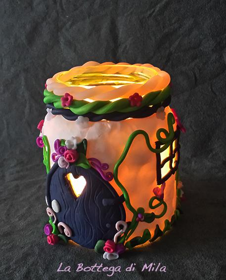 Lanterna Casa delle Fate Fatine, porta candela led, candele, decorazioni per cameretta