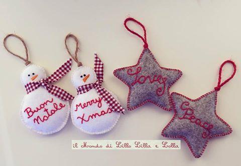 decorazione stelle o pupazzo di neve