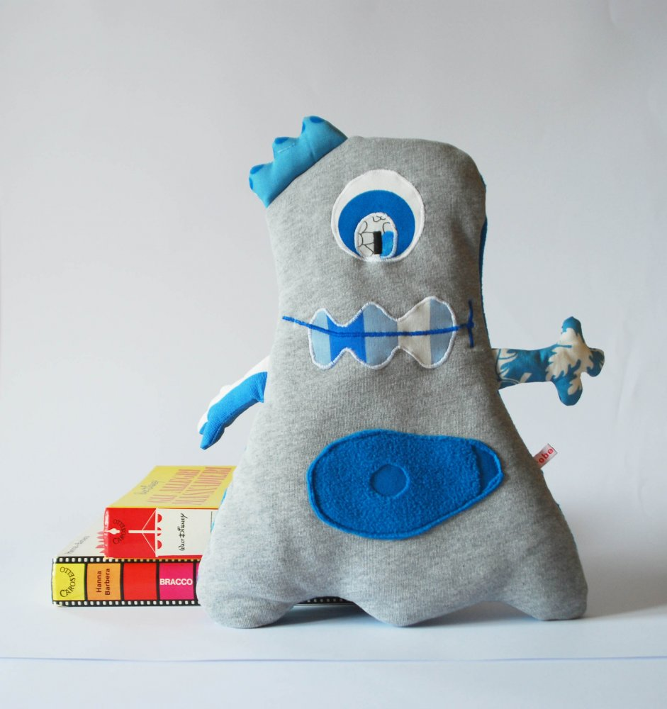 Pupazzo imbottito - mostriciattolo blu