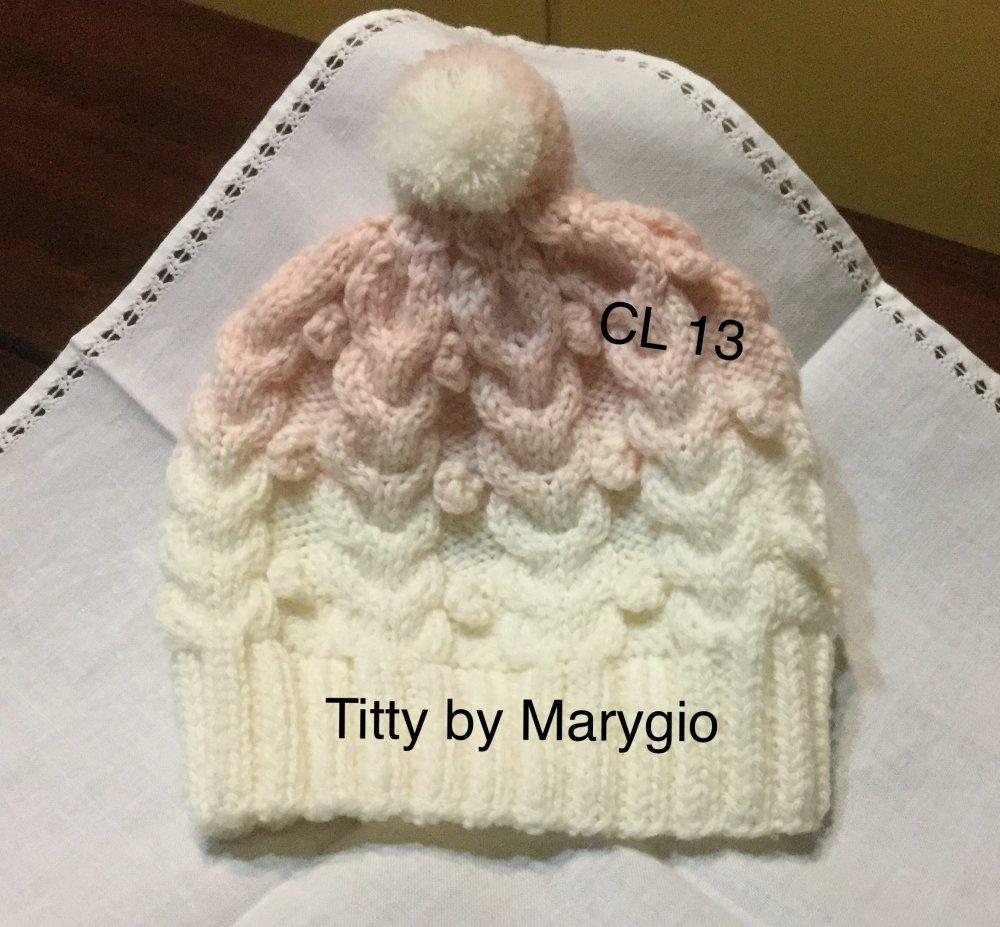 Cappellino in pura lana