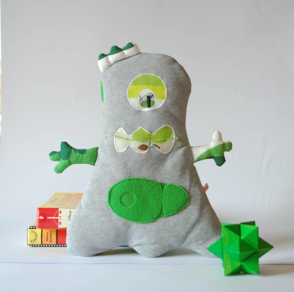 Pupazzo in tessuto - mostriciattolo verde